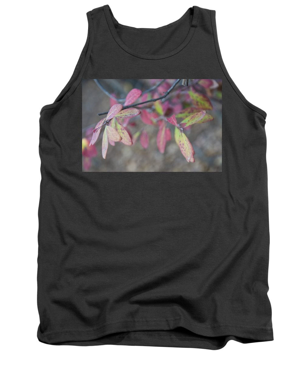 Spotted Tank Top featuring the photograph Spotted Leaves by Terry Anderson