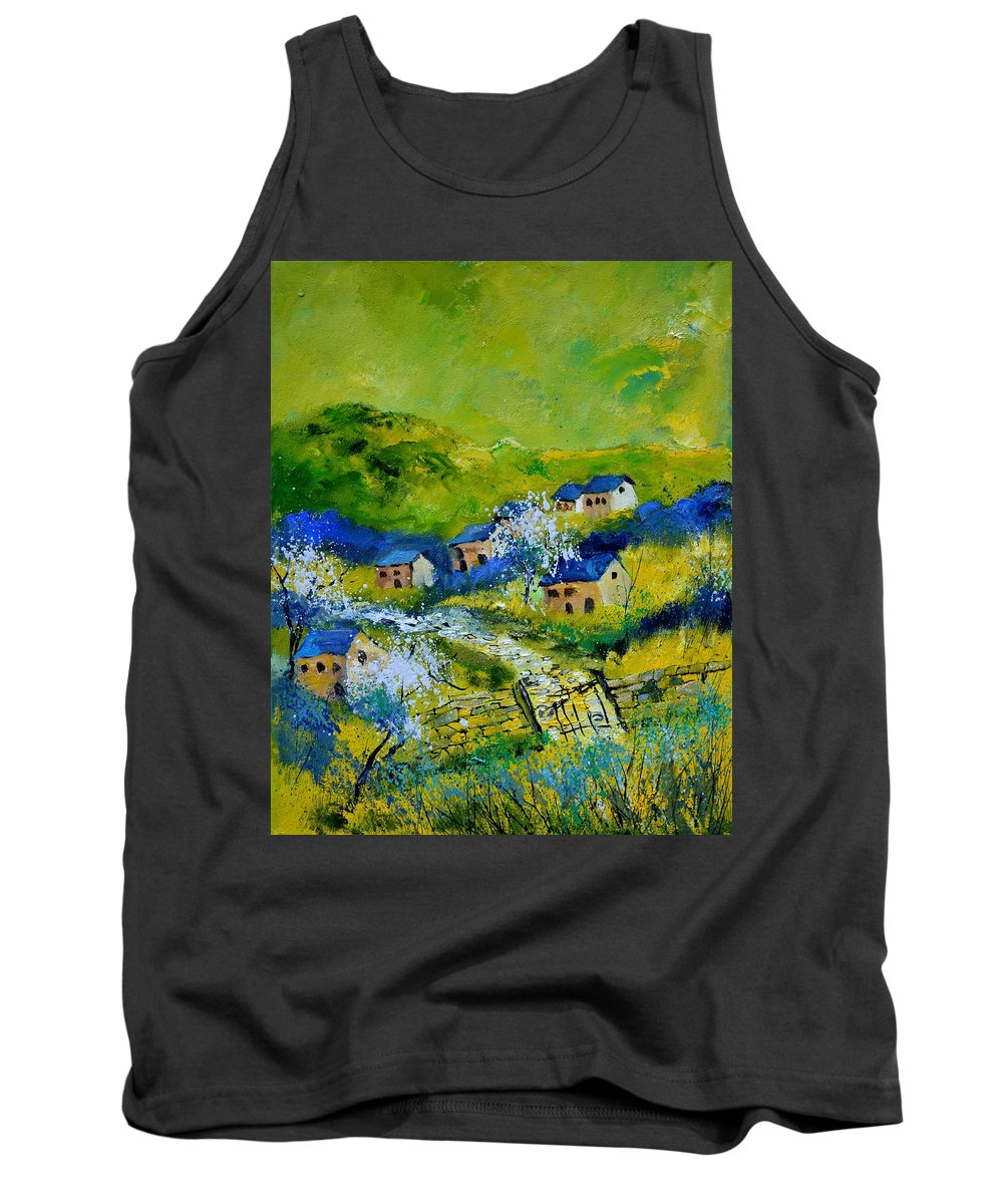Landscape Tank Top featuring the painting Spring 455120 by Pol Ledent