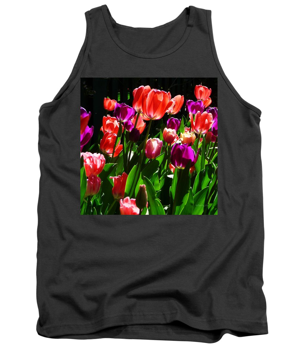 Tulips Tank Top featuring the photograph Spring Blossom 5 by Xueling Zou