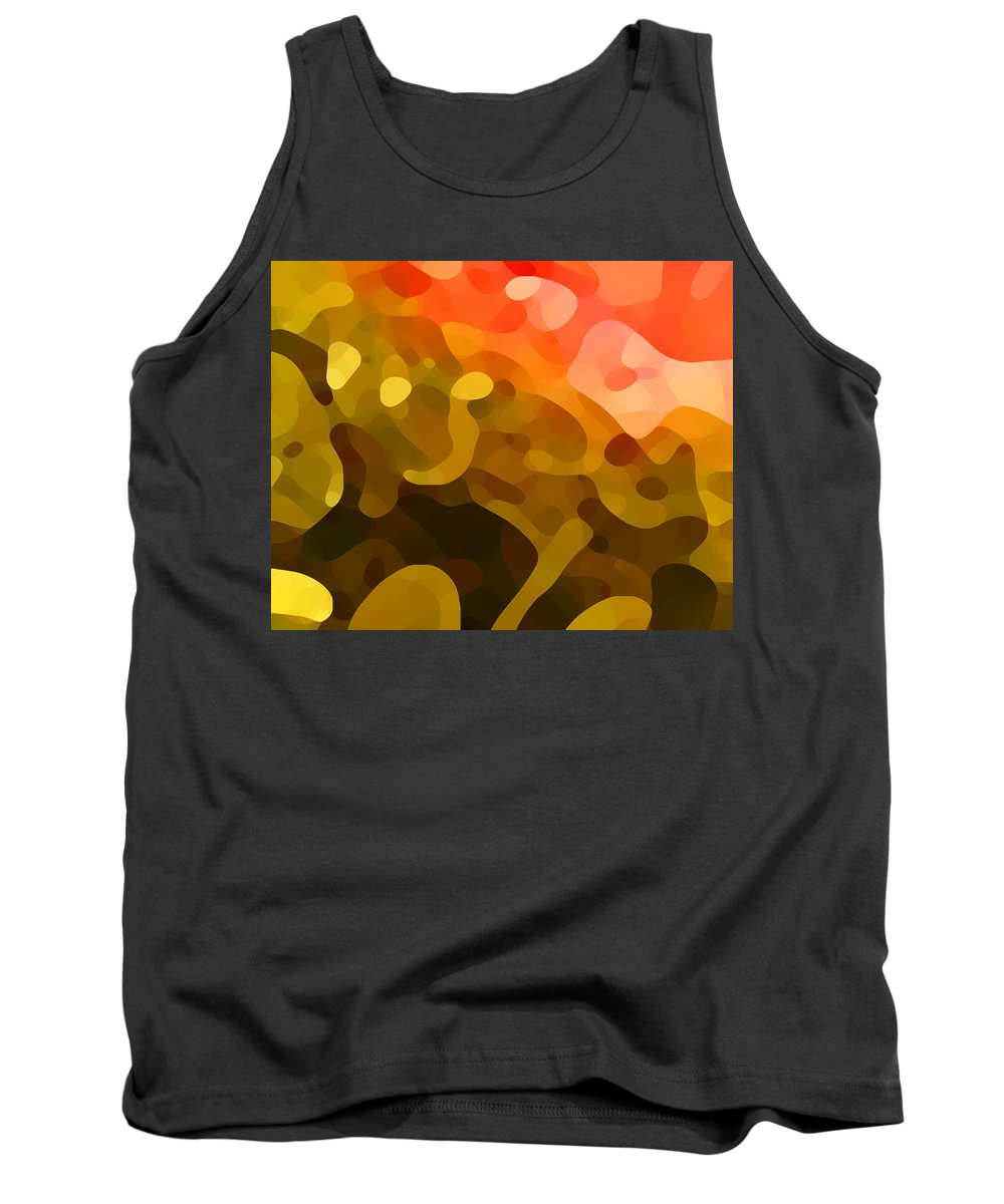 Abstract Tank Top featuring the painting Spring Day by Amy Vangsgard
