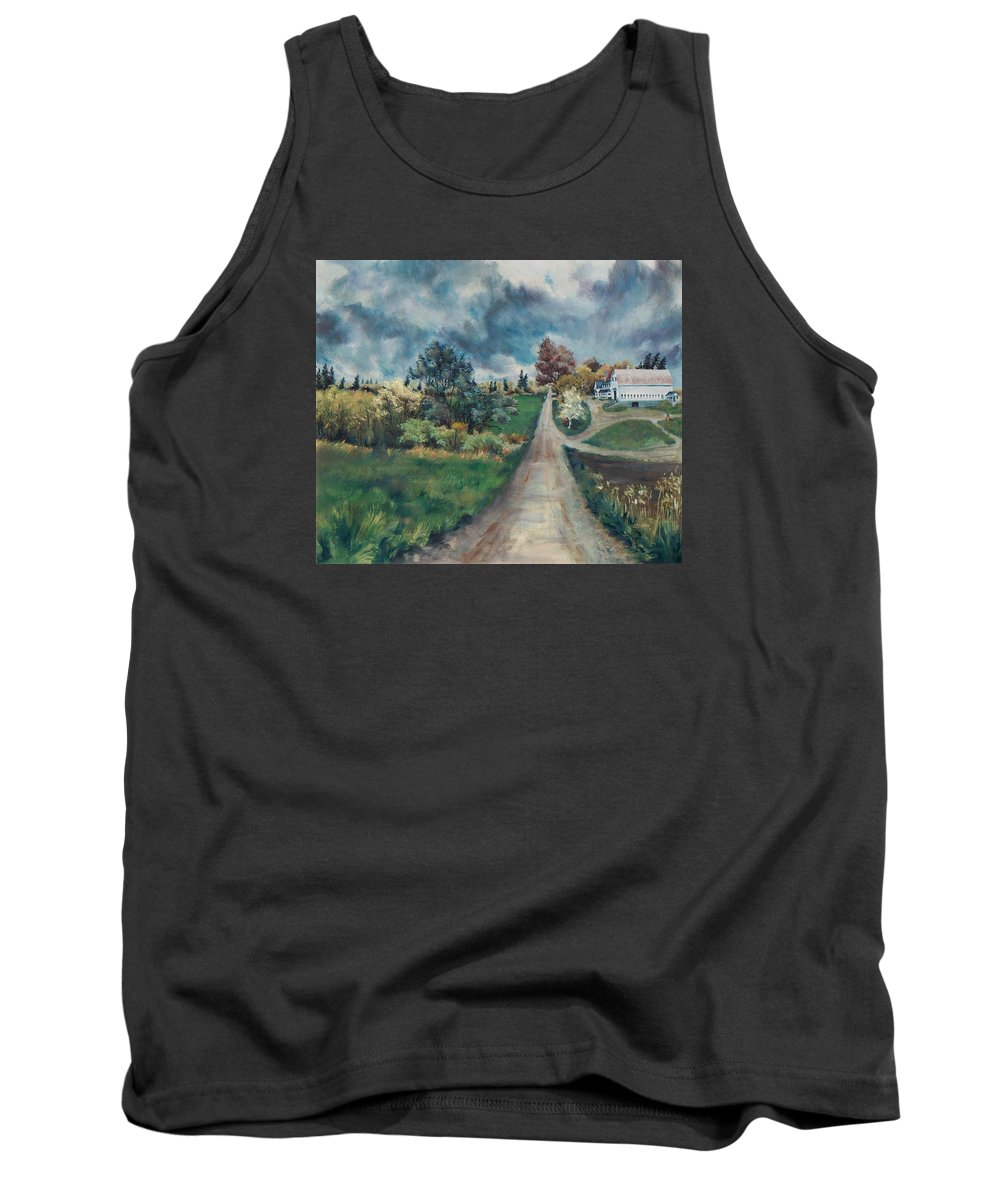 Oil Painting Tank Top featuring the painting Spring Farm by Joy Nichols