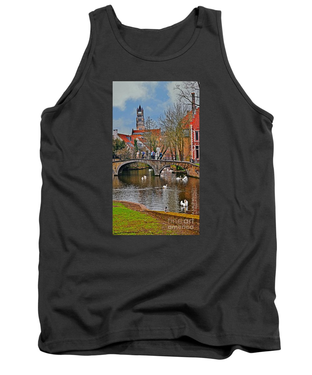 Travel Tank Top featuring the photograph Spring In Bruges by Elvis Vaughn