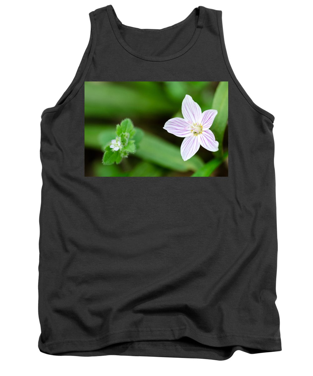 Spring Beauty Tank Top featuring the photograph Spring Wildflowers by Georgette Grossman