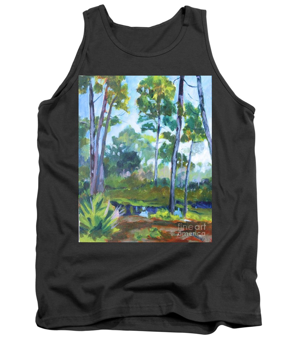 Florida Tank Top featuring the painting St. Andrew's Park by Jan Bennicoff