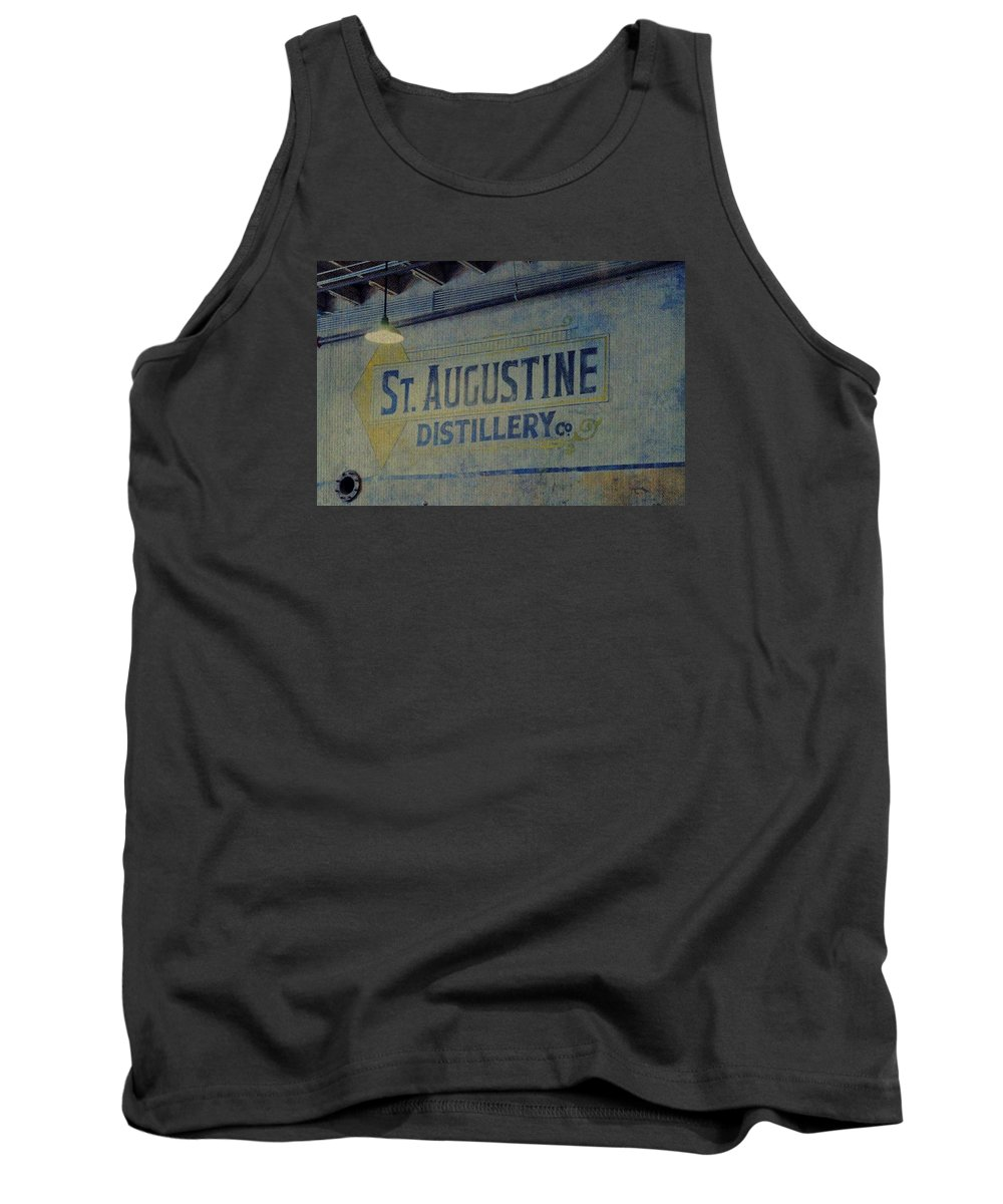 St. Augustine Distillery Tank Top featuring the photograph St. Augustine Distillery 2 by Laurie Perry