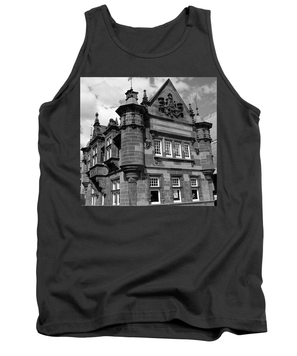 Black And White Tank Top featuring the photograph St. Enoch Subway Station 1 by Denise Mazzocco