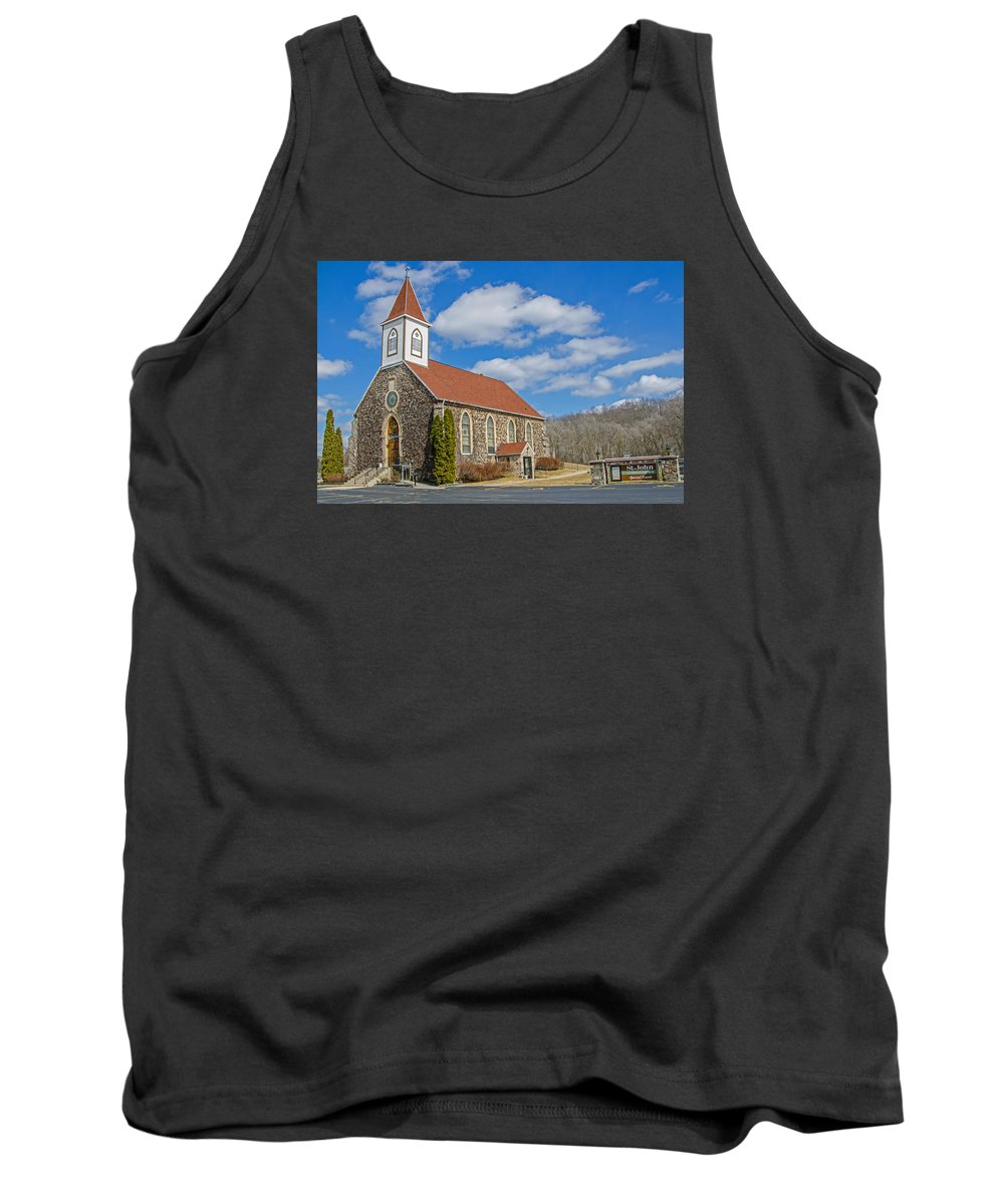 St. John's Tank Top featuring the photograph St. John's Of New Fane by Susan McMenamin