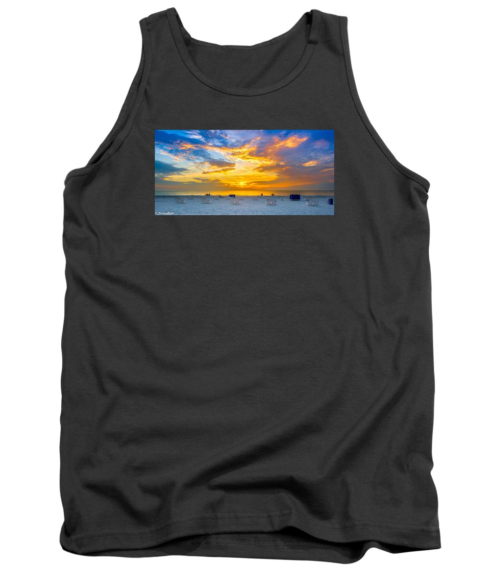 St. Pete Beach Tank Top featuring the photograph St. Pete Beach Sunset by Lance Raab