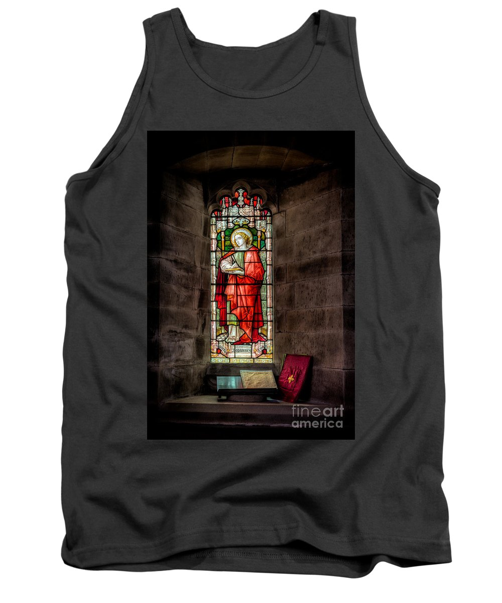 British Tank Top featuring the photograph Stained Glass Window 2 by Adrian Evans