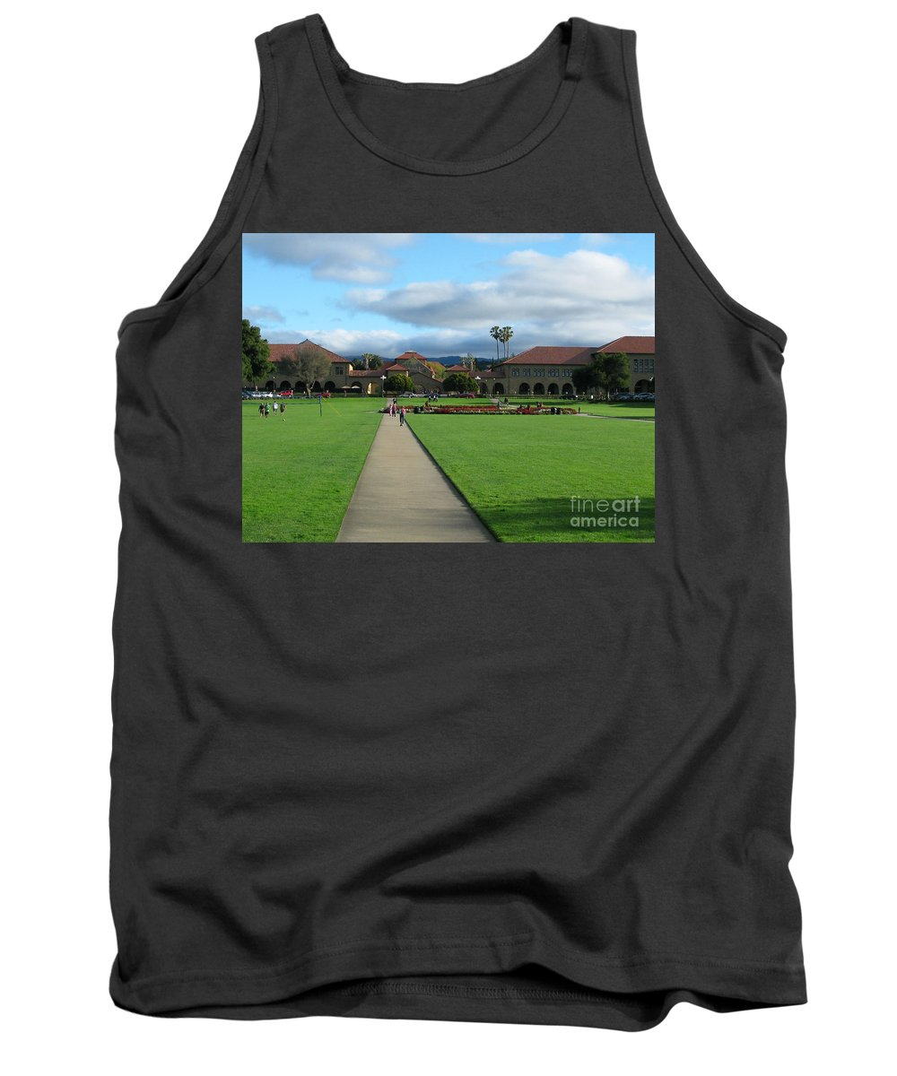 Stanford University Tank Top featuring the photograph Stanford University by Mini Arora