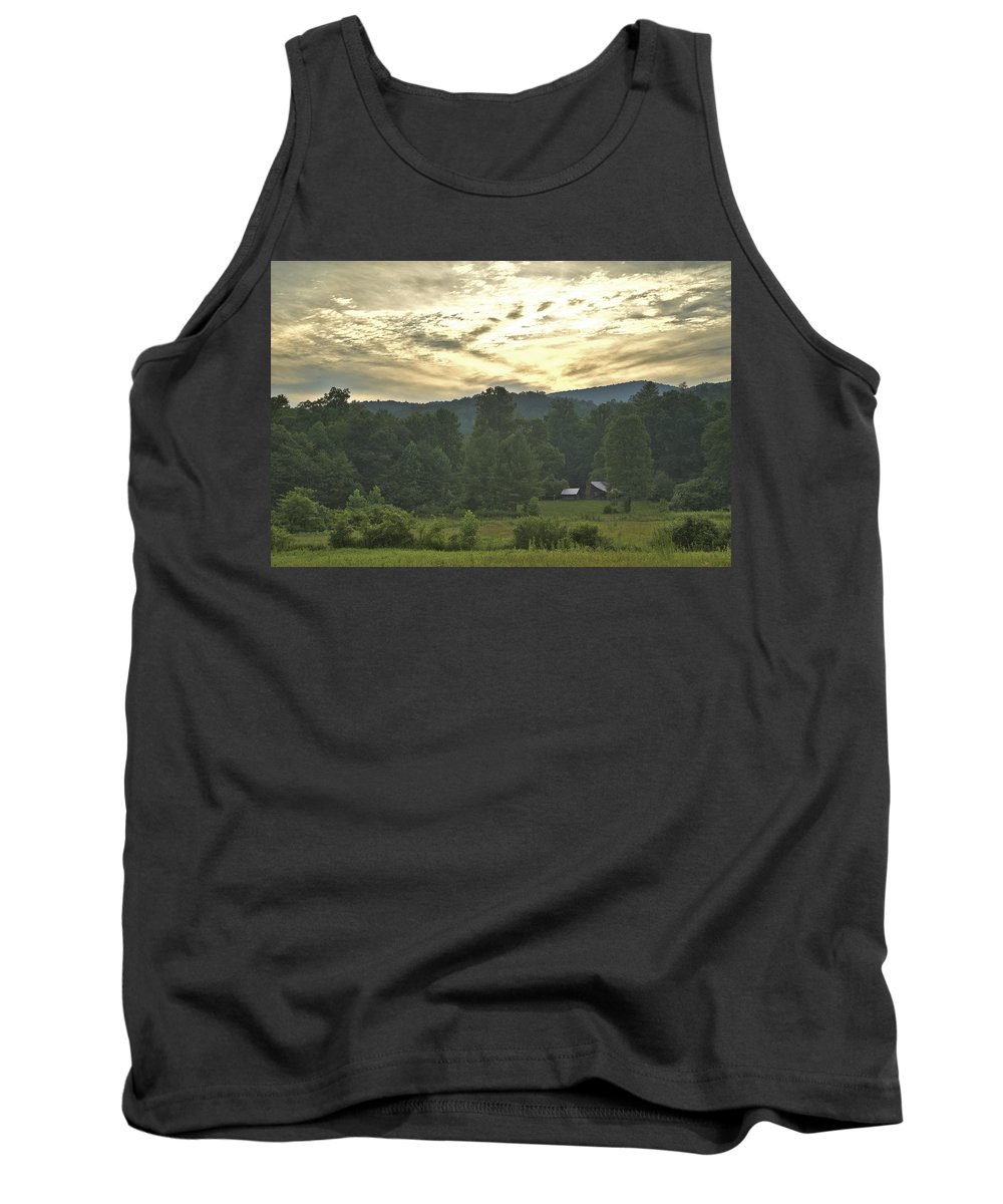 Stanly Cabin Tank Top featuring the photograph Stanley Cabin 2 by Mike McGowan