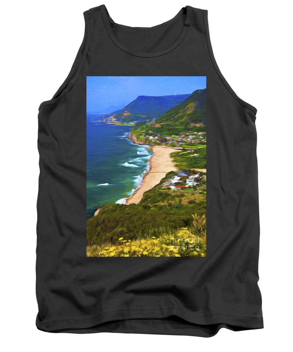Daisies Tank Top featuring the photograph Stanwell Tops with daisies by Sheila Smart Fine Art Photography