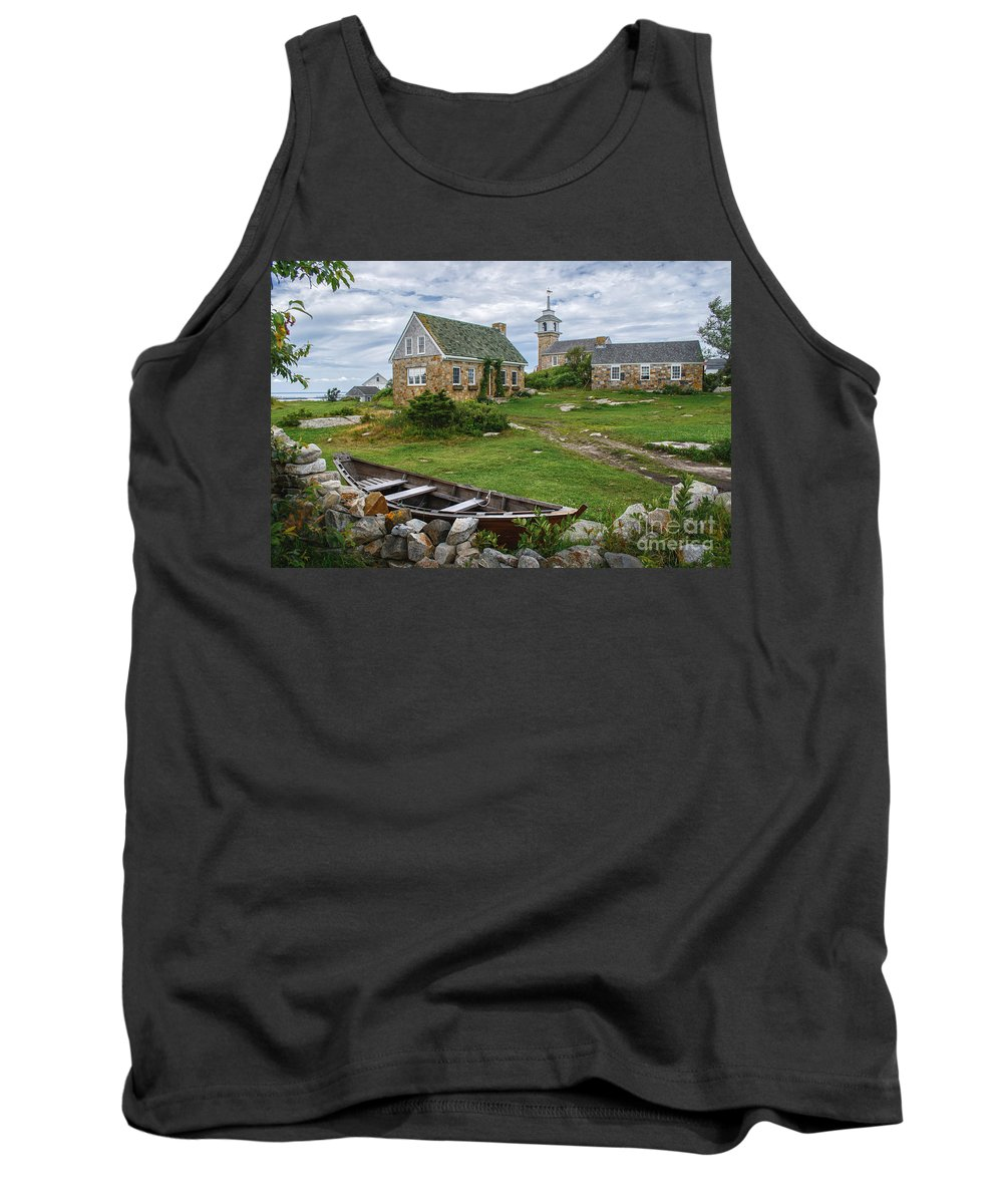 Portsmouth Nh Tank Top featuring the photograph Star Island Dory by Scott Thorp