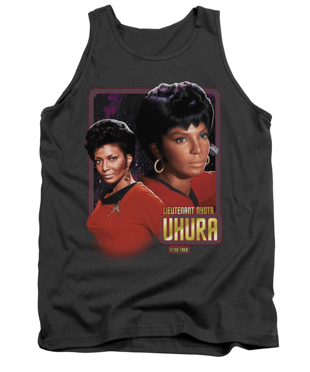 Star Trek Tank Top featuring the digital art Star Trek - Lieutenant Uhura by Brand A