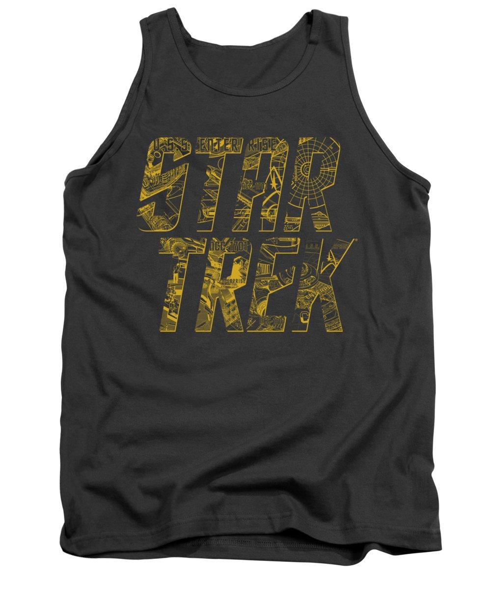 Star Trek Tank Top featuring the digital art Star Trek - Schematic Logo by Brand A