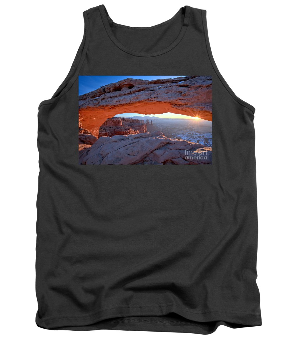 Mesa Arch Tank Top featuring the photograph Starburst At Mesa Arch by Adam Jewell