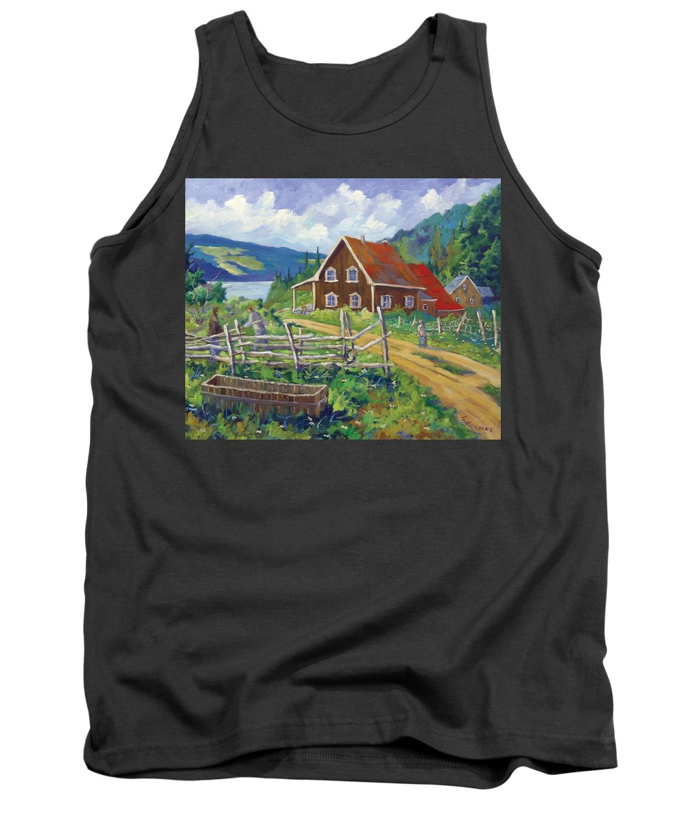 Art Tank Top featuring the painting Ste-rose Du Nord by Richard T Pranke
