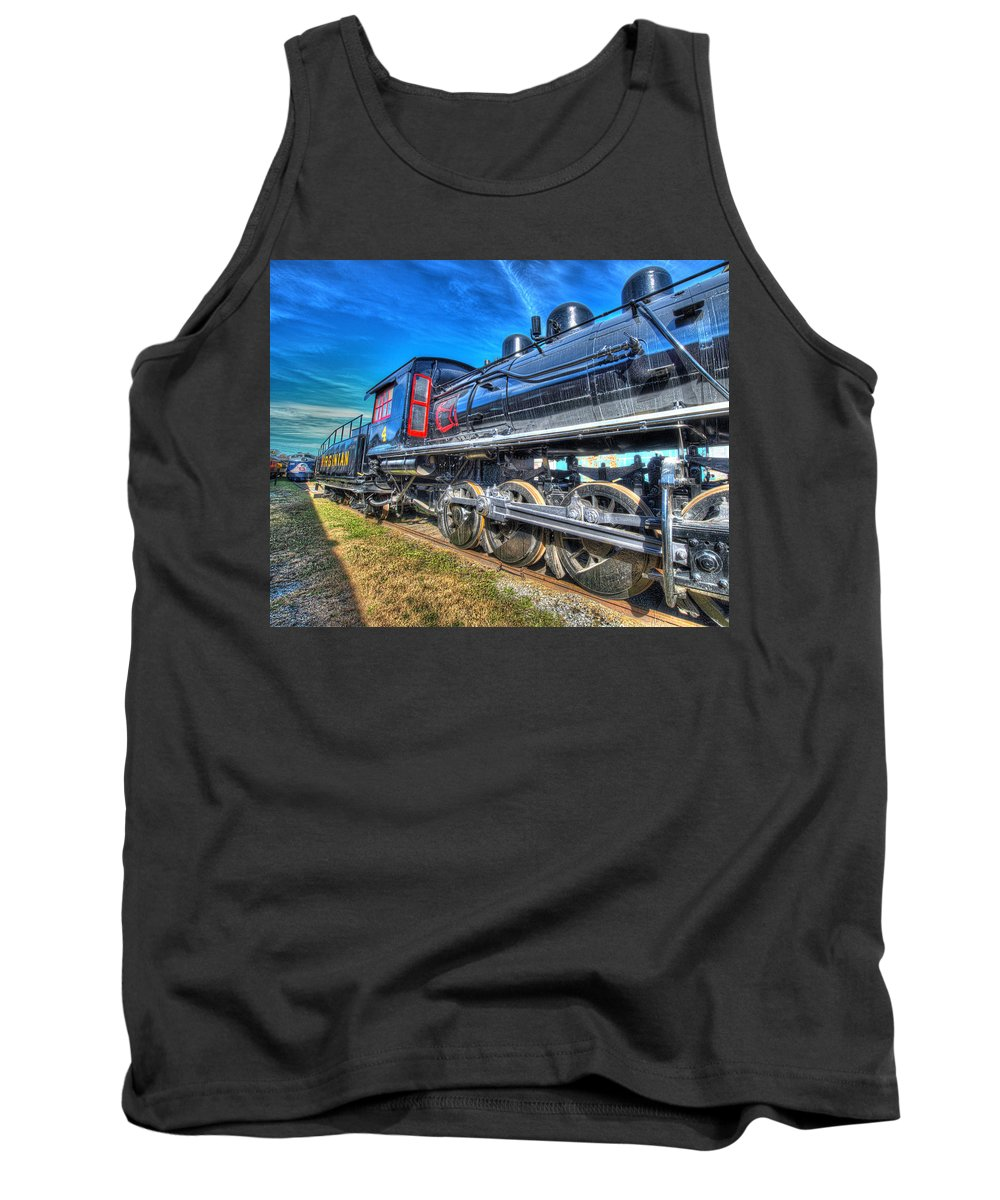 Historic Tank Top featuring the photograph Steam Locomotive Virginian Class Sa No 4 by Greg Hager