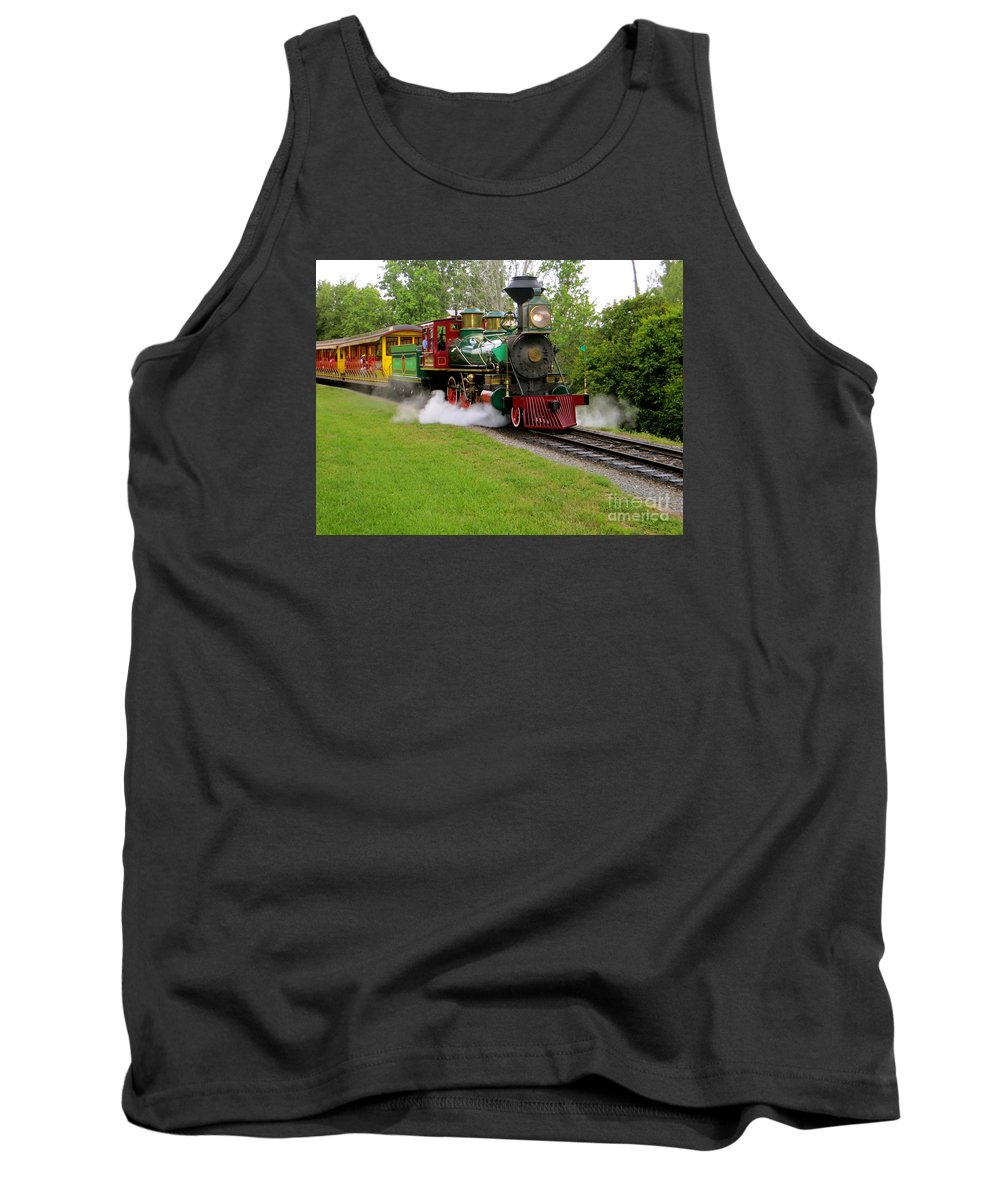 Working Steam Trains Tank Top featuring the photograph Steam Train by Joy Hardee