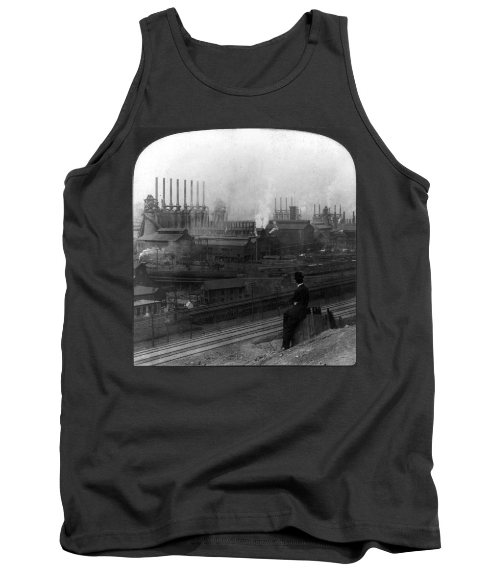 1907 Tank Top featuring the photograph Steel Factory, C1907 by Granger