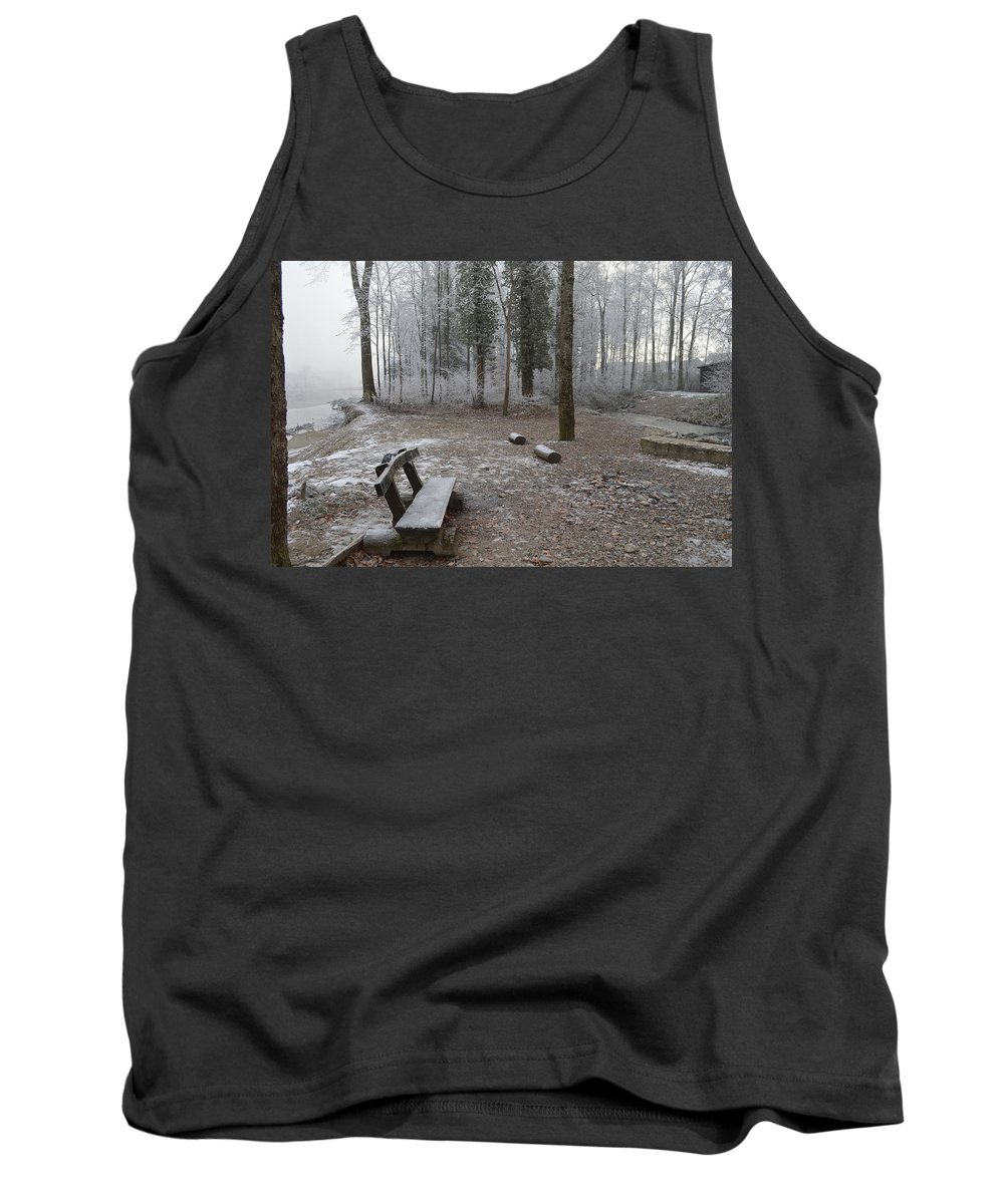 Landscape Tank Top featuring the photograph Steep And Frost - 3 by Felicia Tica