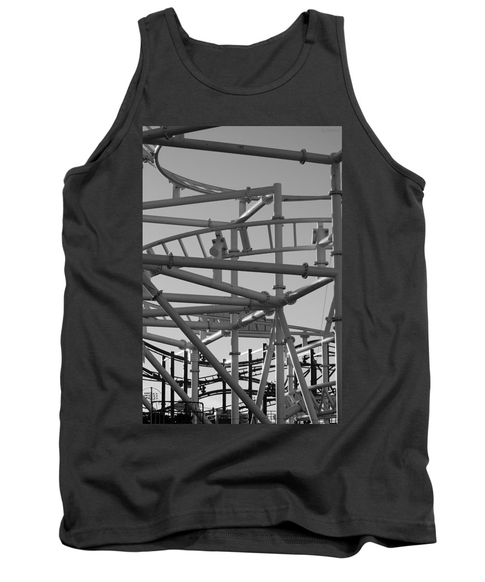 Brooklyn Tank Top featuring the photograph STEEPLE CHASE in BLACK AND WHITE by Rob Hans