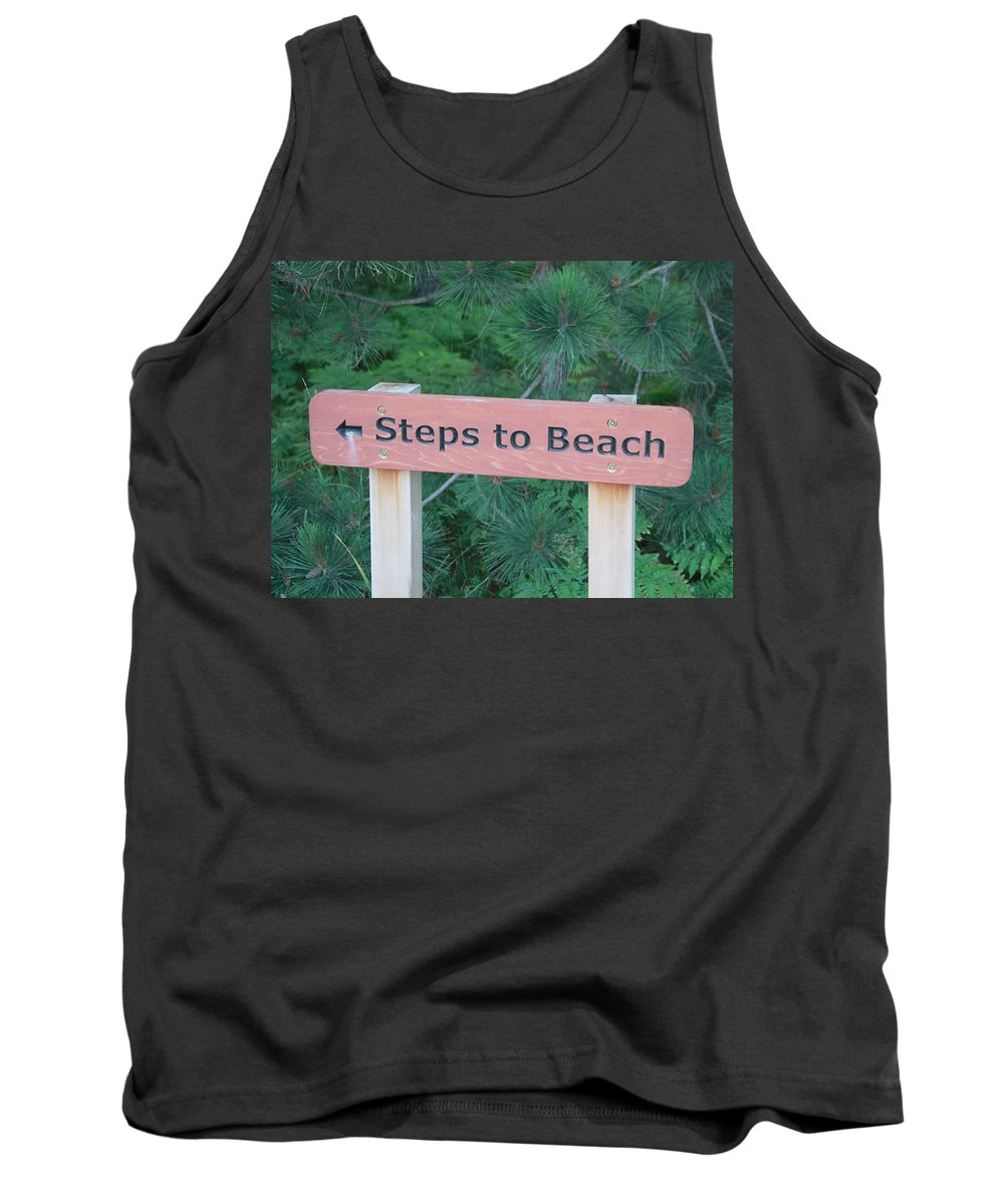 Steps To Beach Tank Top featuring the photograph Steps To The Beach by Dan Sproul