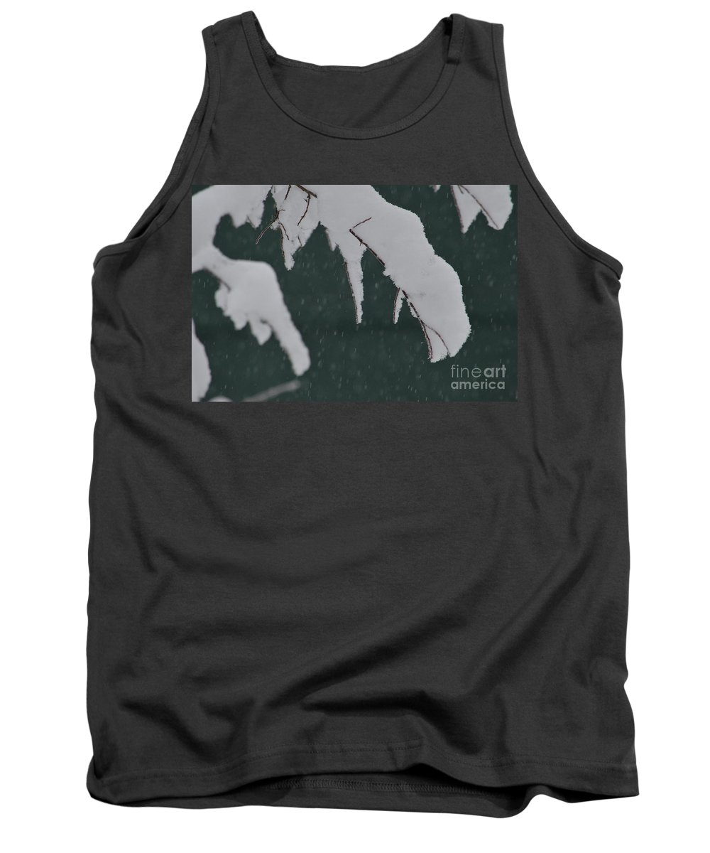 Snow Tank Top featuring the photograph Still Coming Down by Brian Boyle