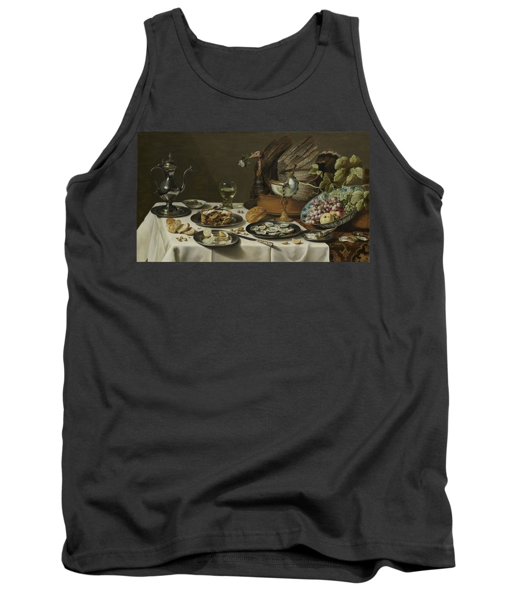 Still Life Tank Top featuring the painting Still Life With A Turkey Pie by Pieter Claesz