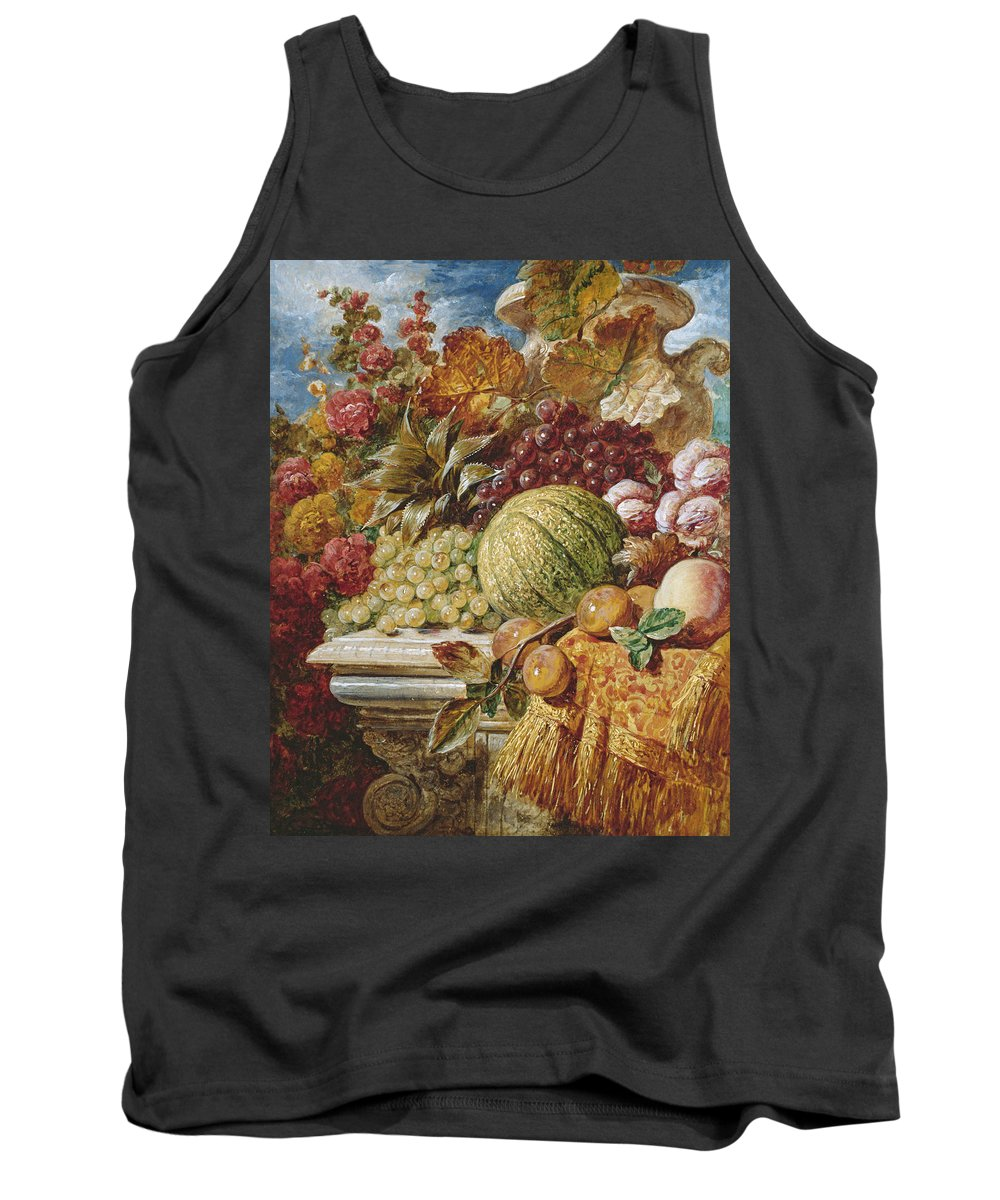 George Lance Tank Top featuring the painting Still Life With Fruit by George Lance