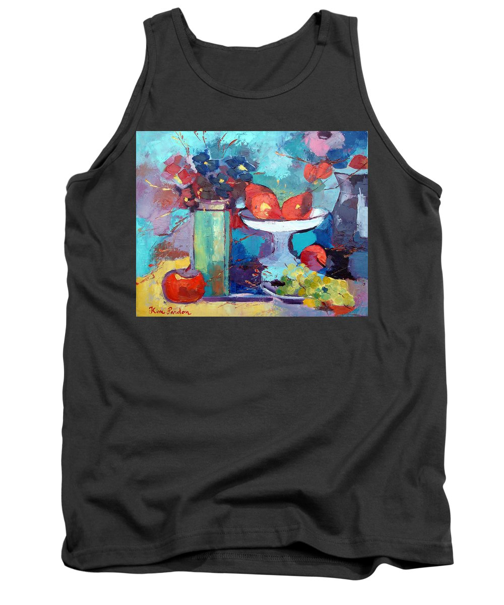 Peers Tank Top featuring the painting Still Life With Pears by Kim PARDON