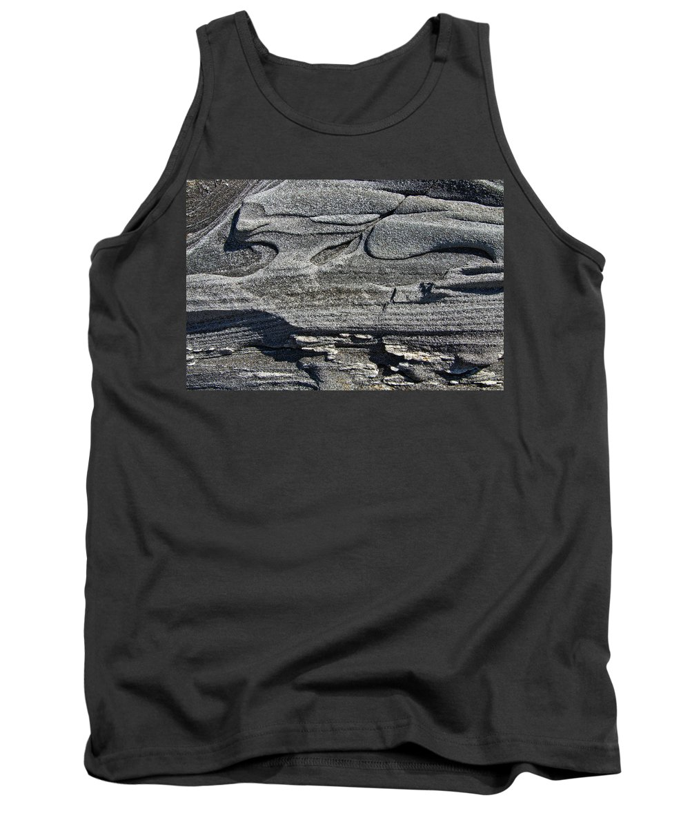 Stone Tank Top featuring the photograph Stone Art by Glenn Gordon