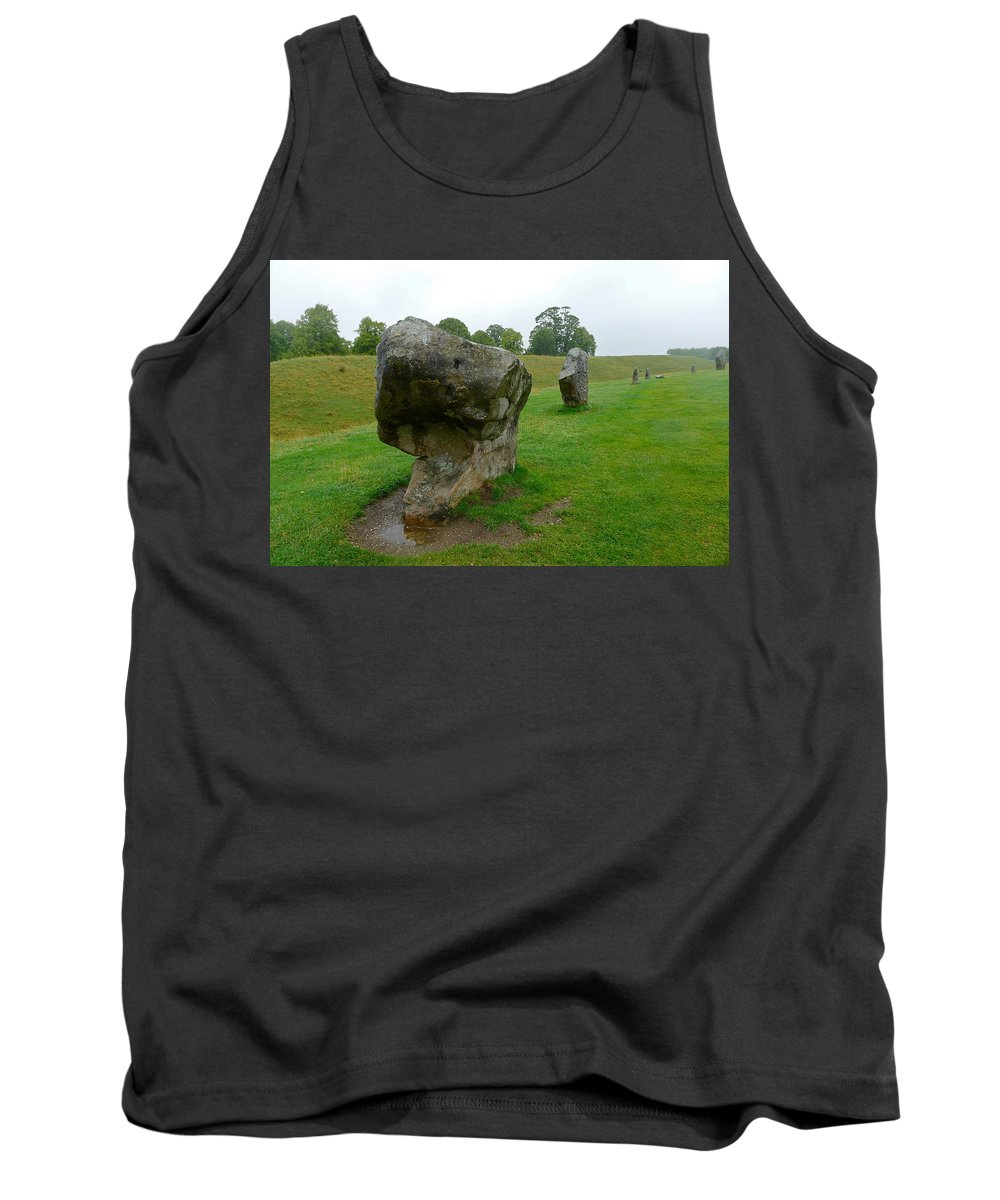 Avebury Tank Top featuring the photograph Stone At Avebury by Denise Mazzocco