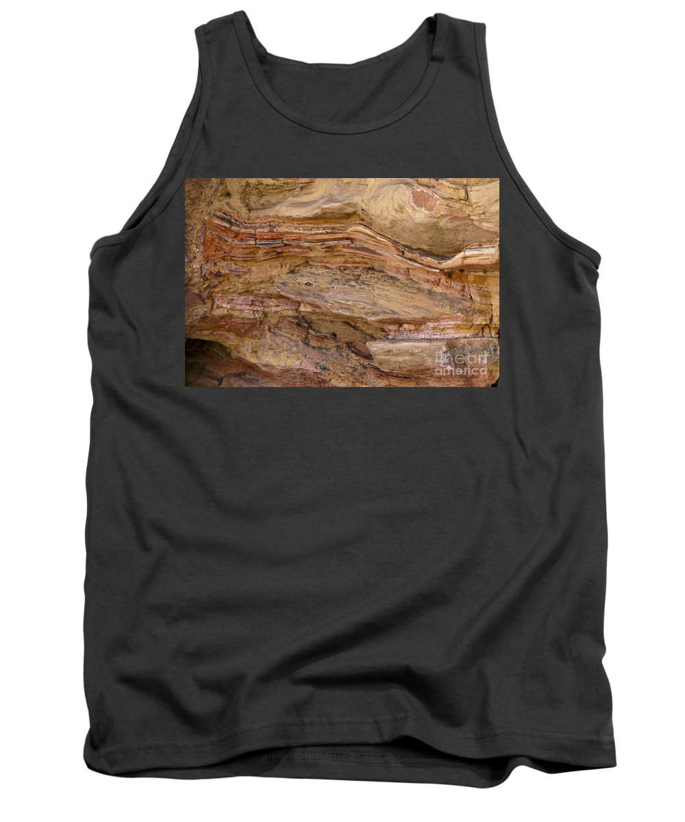 Big Bend Ranch State Park Texas Park Color Colors Texture Texture Rock Stone Tank Top featuring the photograph Stone Colors And Textures by Bob Phillips