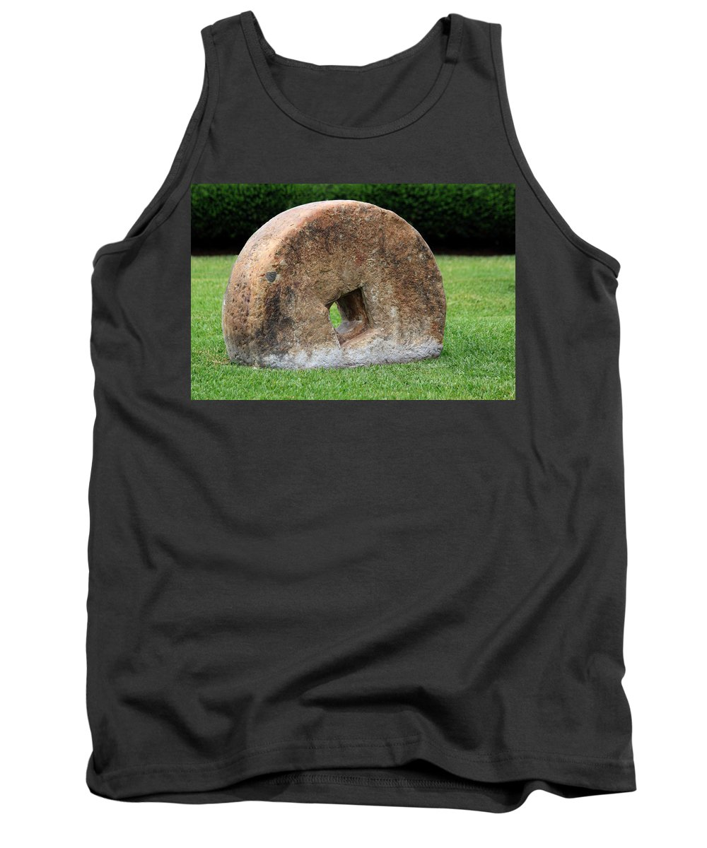 Stone Wheel Tank Top featuring the photograph Stone Wheel by Shane Bechler