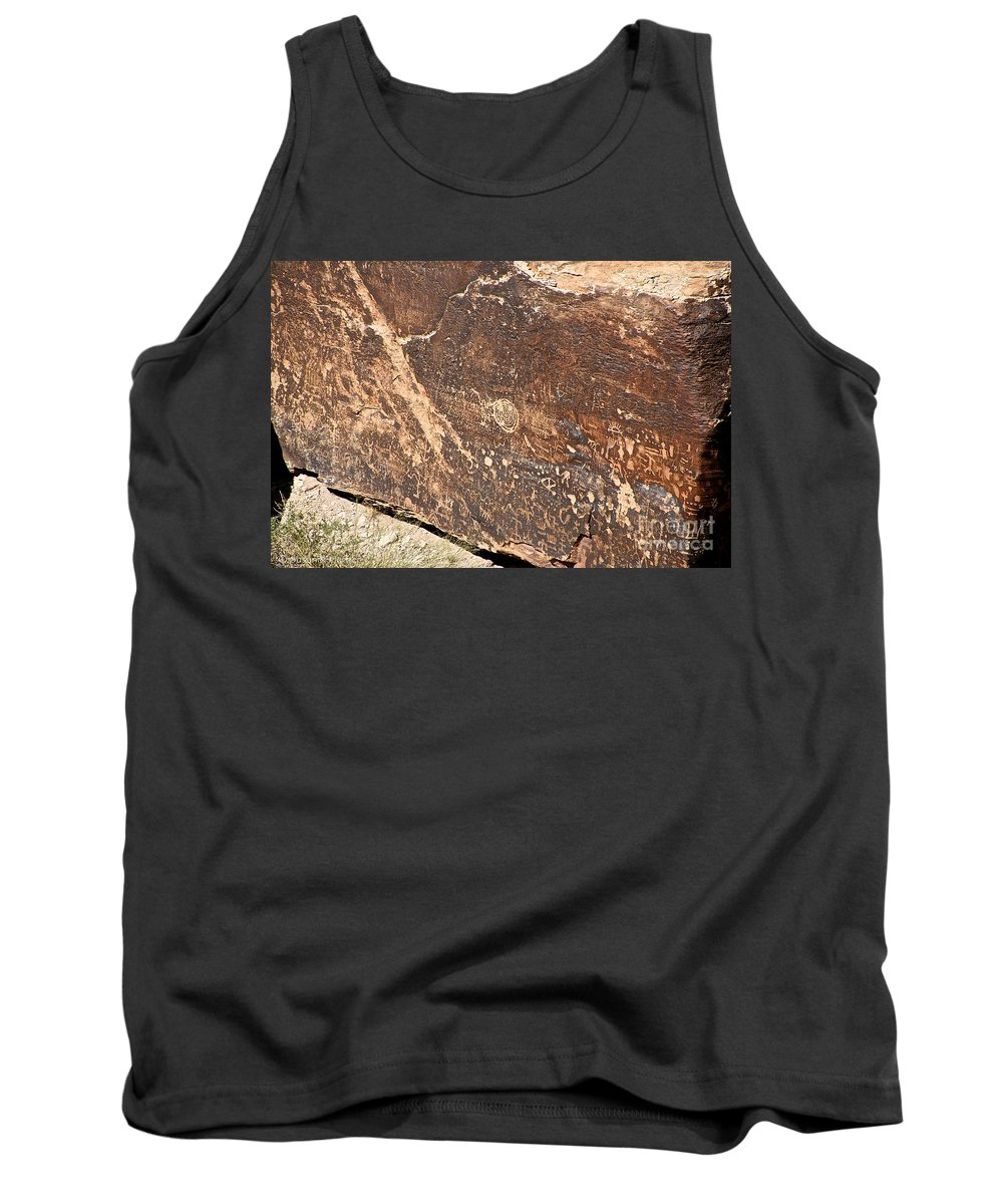 Petroglyph Tank Top featuring the photograph Stone Written by Susan Herber