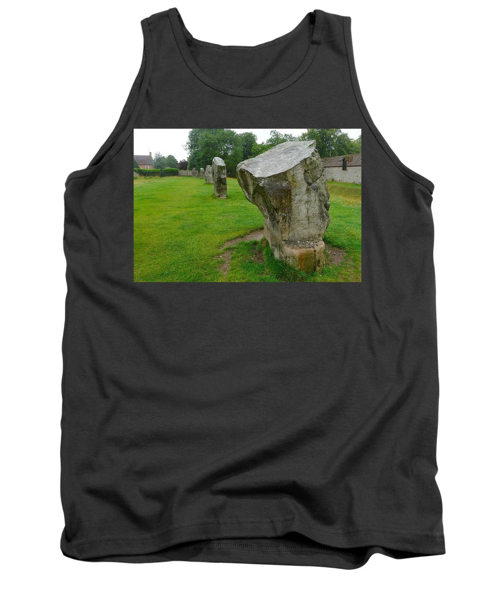 Avebury Tank Top featuring the photograph Stones At Avebury by Denise Mazzocco