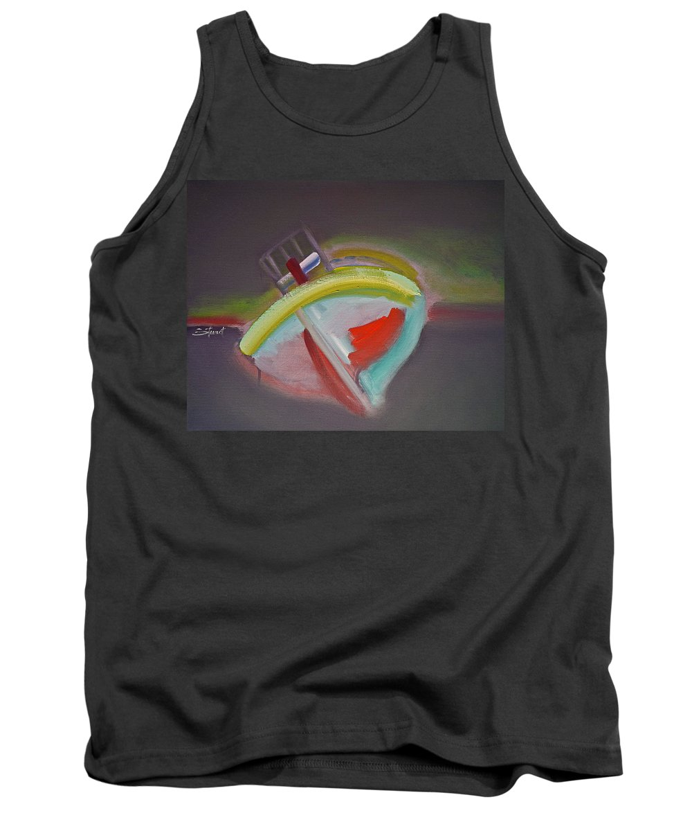 Fishing Boat Tank Top featuring the painting Storm Beach by Charles Stuart