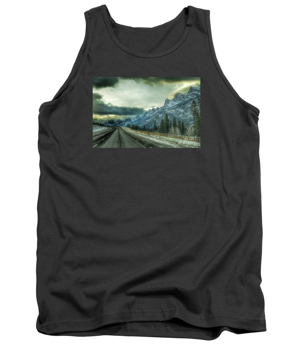Landscape Tank Top featuring the photograph Stormy by D White