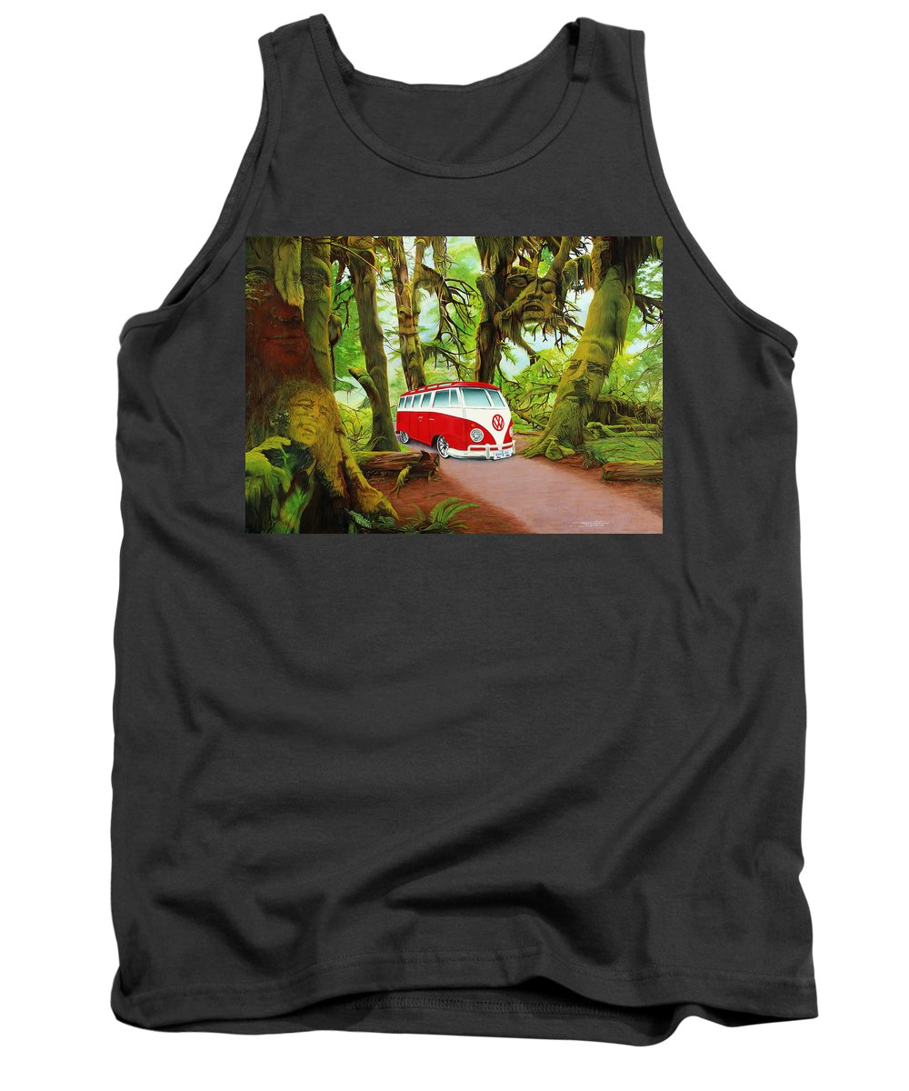 Jerry Garcia Tank Top featuring the painting Strange Days by Joshua Morton