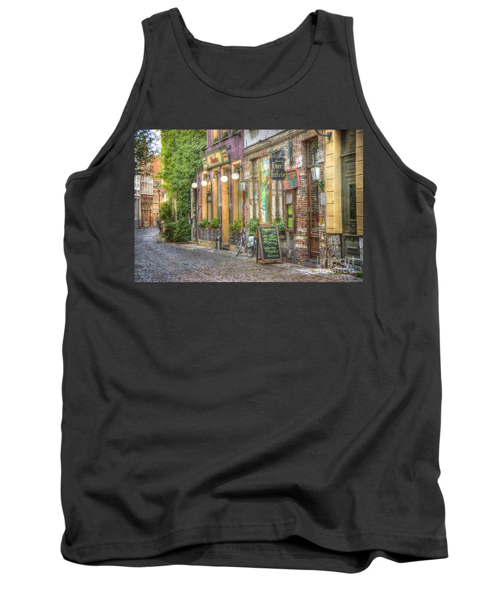 Architecture Tank Top featuring the photograph Street In Ghent by Juli Scalzi
