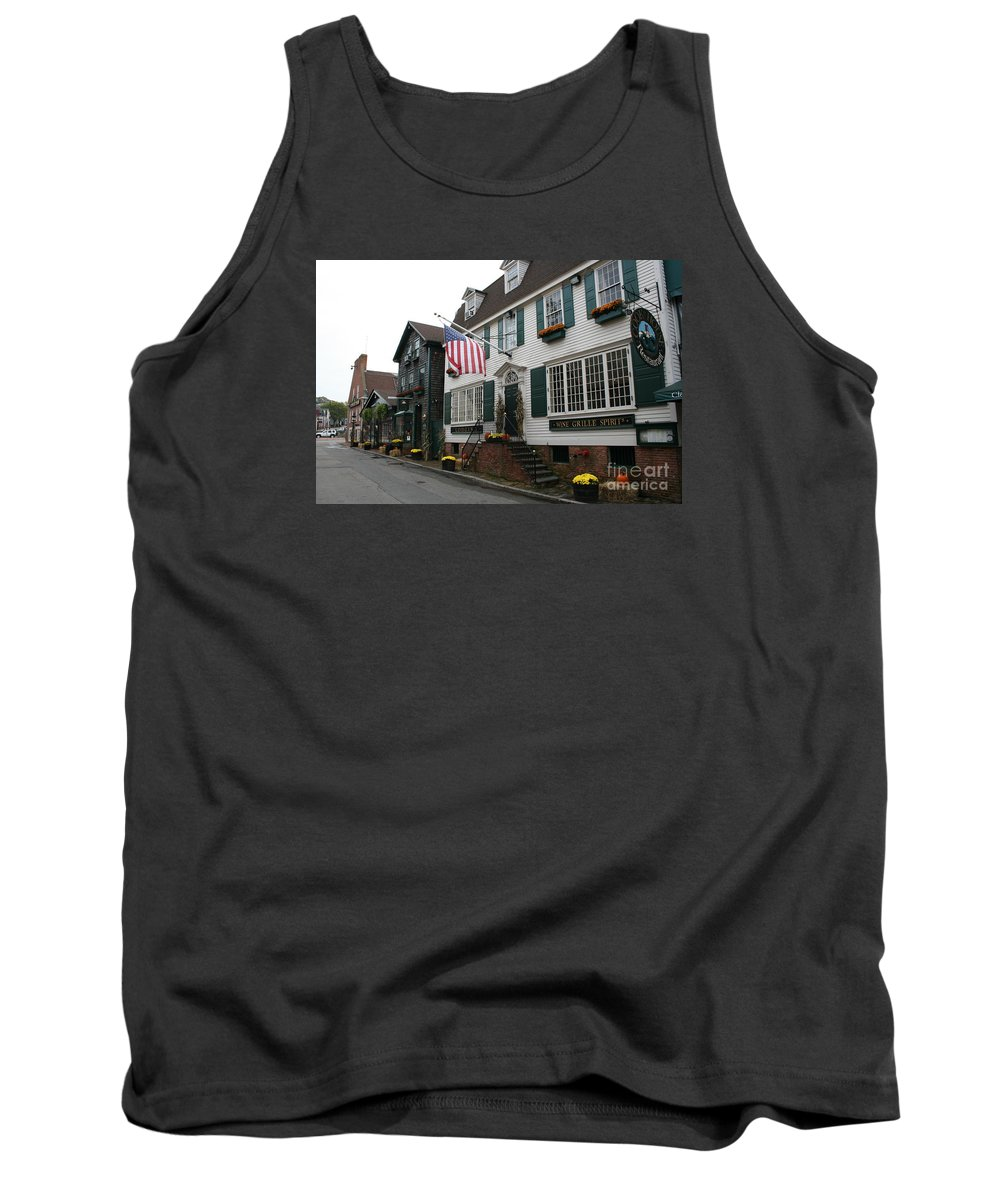 Buildings Tank Top featuring the photograph Streetscene Newport - Rhode Island by Christiane Schulze Art And Photography