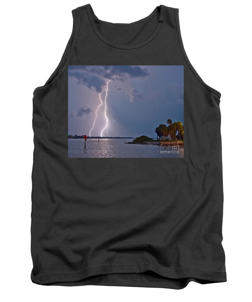 Florida Tank Top featuring the photograph Strikes by Stephen Whalen