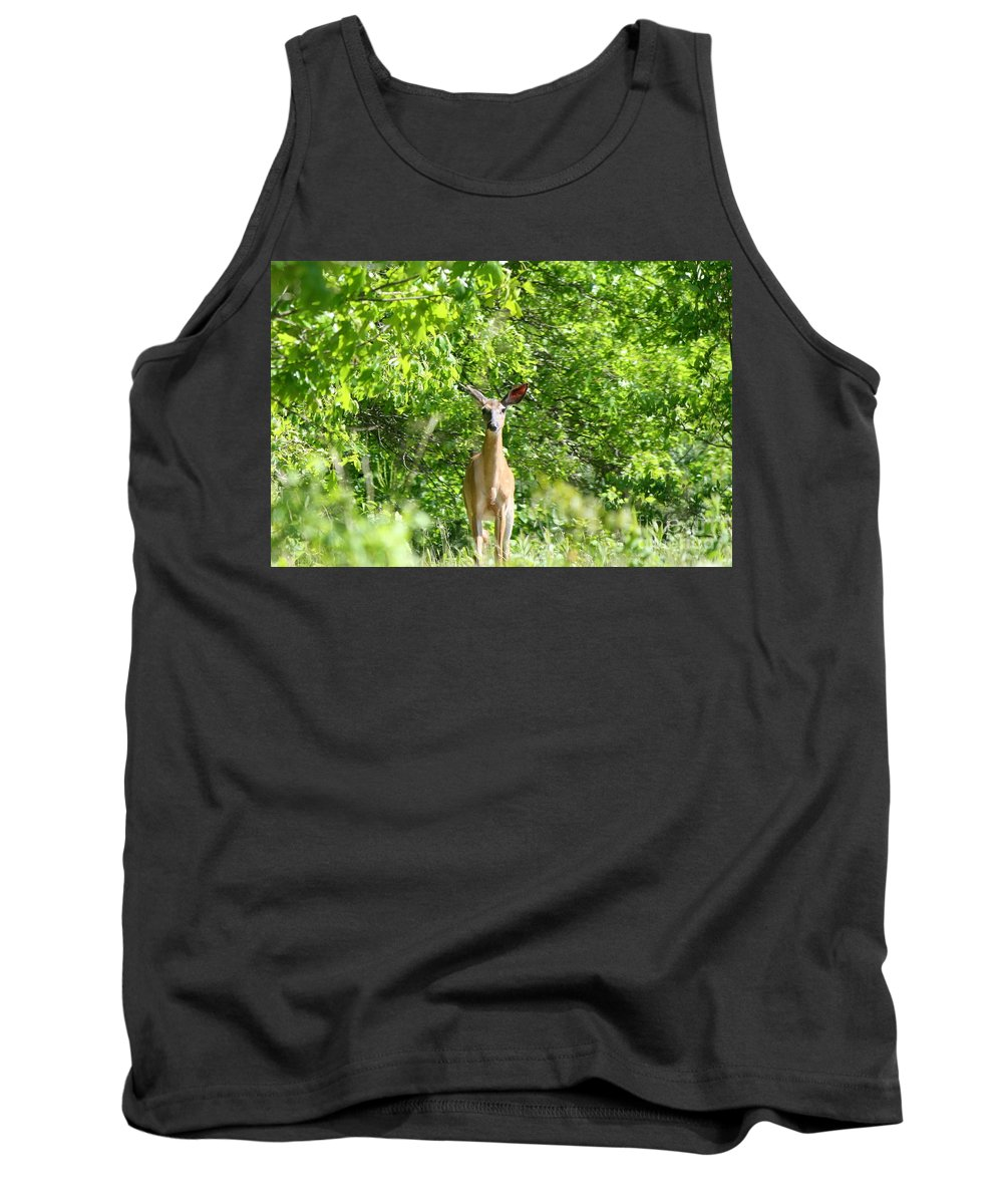 Wildlife Tank Top featuring the photograph Stumble Upon by Neal Eslinger