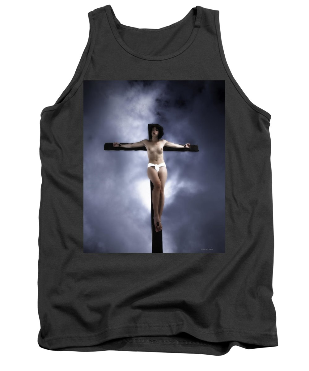 Woman Tank Top featuring the photograph Suffering For Love by Ramon Martinez
