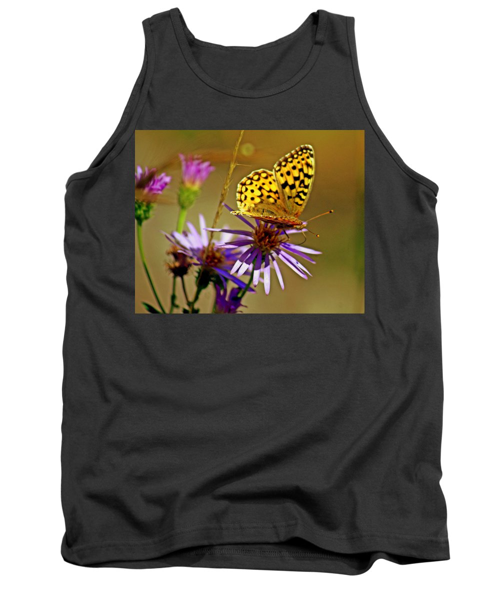 Butterfly Tank Top featuring the photograph Sulpher by Marty Koch