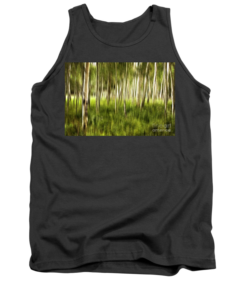 Aspen Tank Top featuring the photograph Summer Aspens by Scott Pellegrin