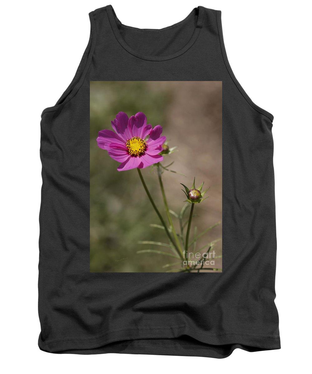 Flower Tank Top featuring the photograph Summer Cosmos by Deborah Benoit