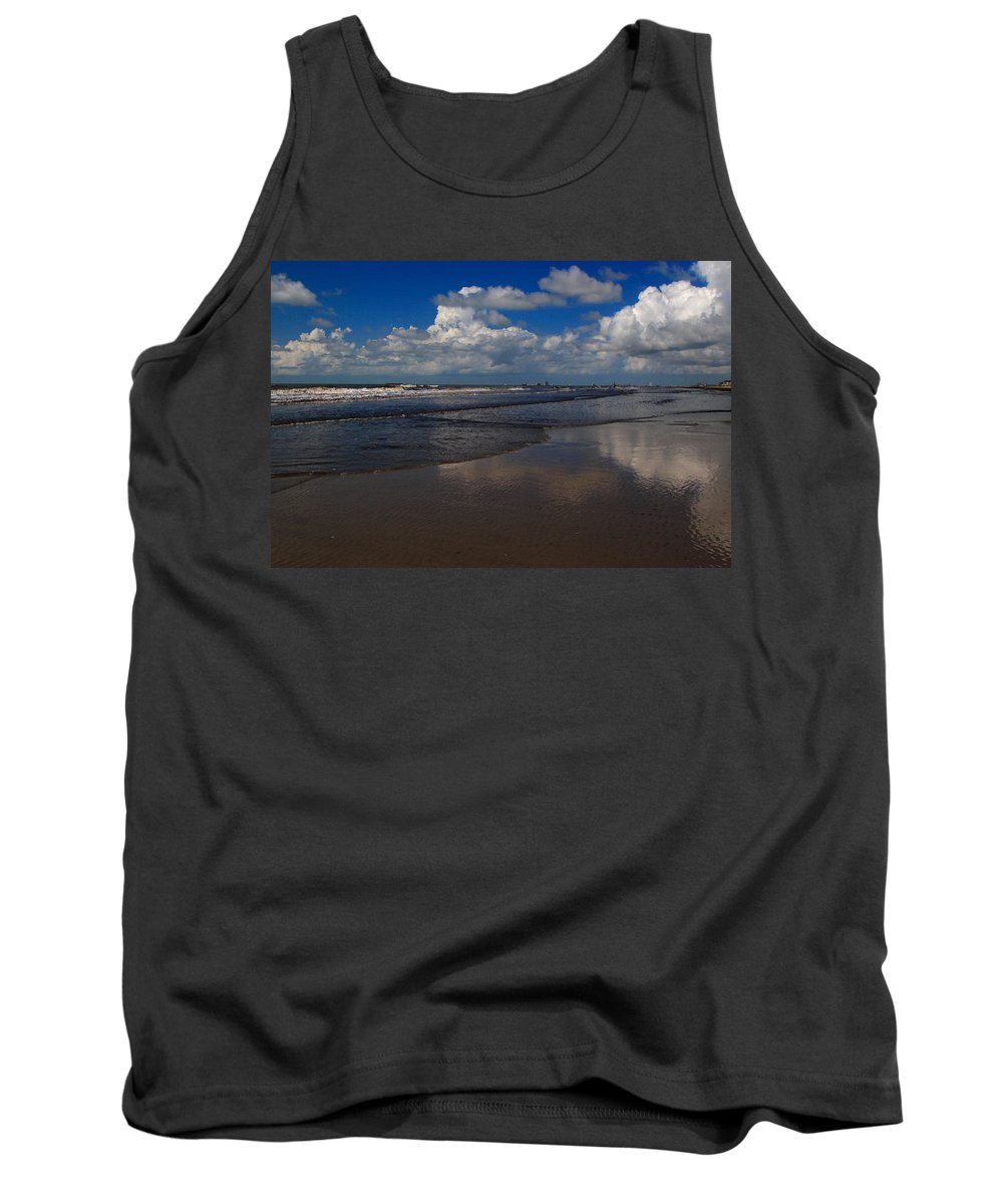 Beach Tank Top featuring the digital art Summer Day At The Beach by Linda Unger