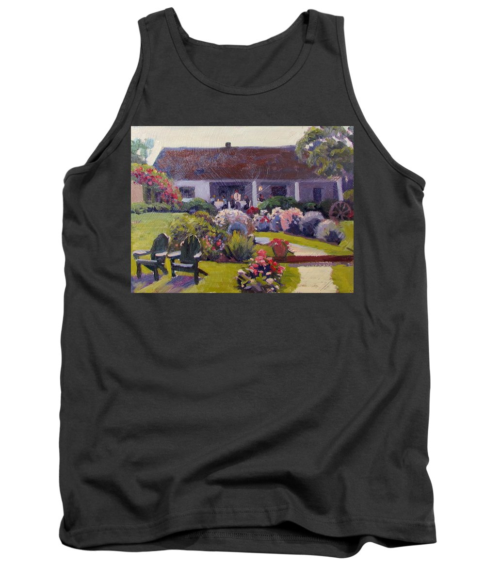 Paintings Of Nantucket Tank Top featuring the painting Summer House by Dianne Panarelli Miller